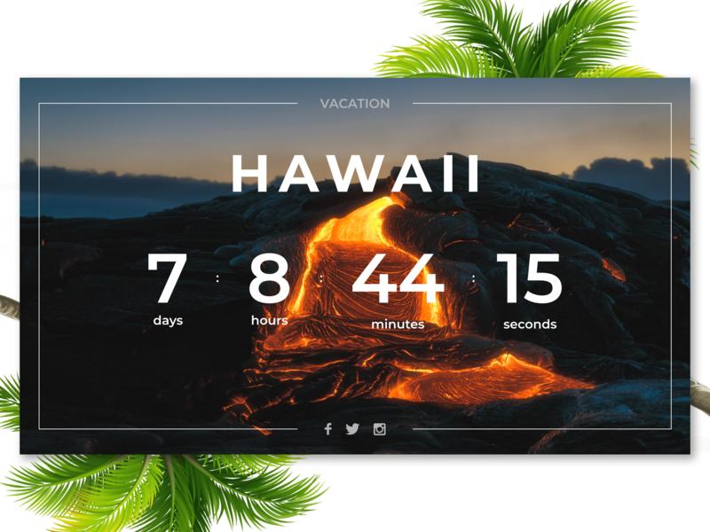 Timer - Daily UI (Day 14) - 2/3 daily ui 014 hawaii timer photoshop flat ux ui design adobe xd