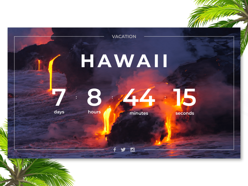Timer - Daily UI (Day 14) - 3/3 timer lava hawaii daily ui 014 photoshop flat ui ux design adobe xd