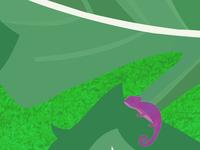 Chameleon hide in Leaves