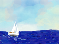 A lonely sail