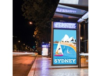 Sydney city poster on advertising board