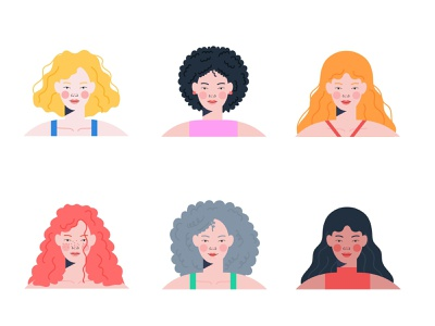 Curly hair girl character woman illustration woman curly hair curly girl character design character illustration design