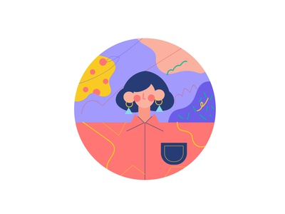 Profile Photo profile photo profile icon color 2019 girl character design character new vector illustration design