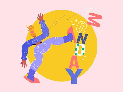 monday monday kick girl 2019 character design character new vector illustration design