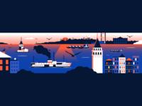 Design Anthology / Istanbul editorial layout editorial magazine anthology design turkey galata iron maiden ferryboat tower bosphorus landscape city istanbul