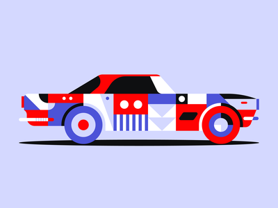 Maserati geometric design geometric illustration vehicle blue red illustration shapes vintage classic car pattern geometric abstract maserati