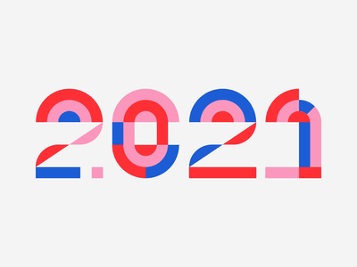 2021 geometrical logotype typedesign shapes geometric graphic numbers typogaphy logo type 2021