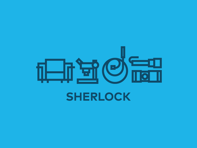 sherlock icons sherlock icon flat line graphic design blue illustration tv movie web tools