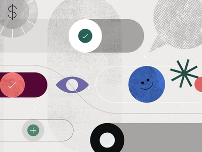 Asana article illustrations asana illustrations texture geometric abstract cover editorial illustration article asana blog asana