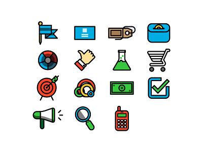 icon flat line icon web finance graphic design analysis mobil vector money circle