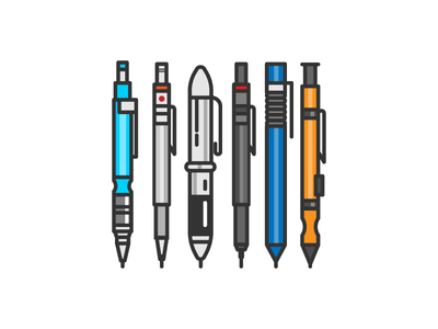 pencils illustration pencil sketch icon logo tools calligraphy branding design graphic typography drawing