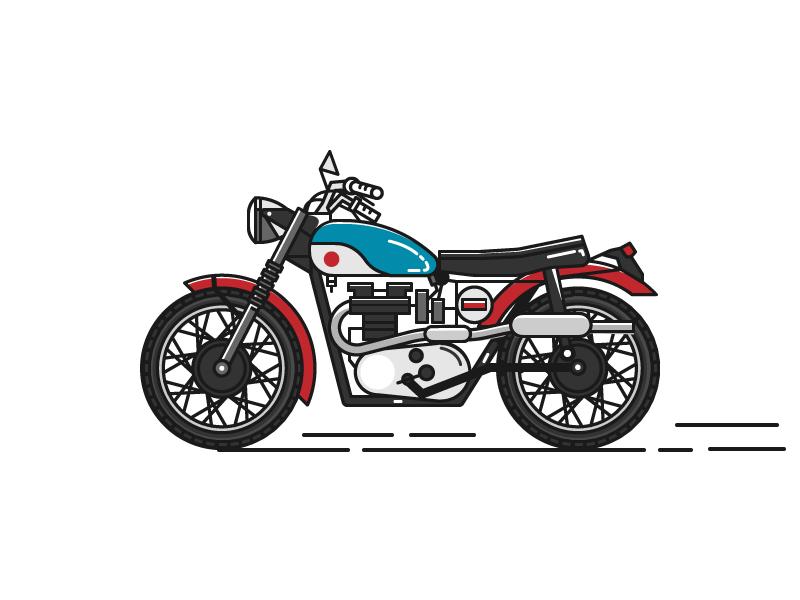moto retro popular extreme illustration vehicle motorcycle retro vintage icon graphic design vector rebel
