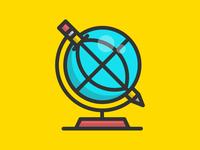 Pencil Cram Globe