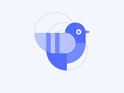 Getform Logo design getform circle blue identity branding mark icon bird dove pigeon logo