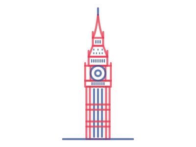Big Ben project design graphic illustration tower icon landmark city london big ben