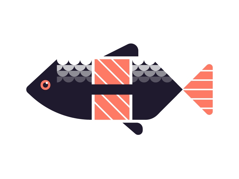 Fish by kemal sanli dribbble for Hashicorp careers