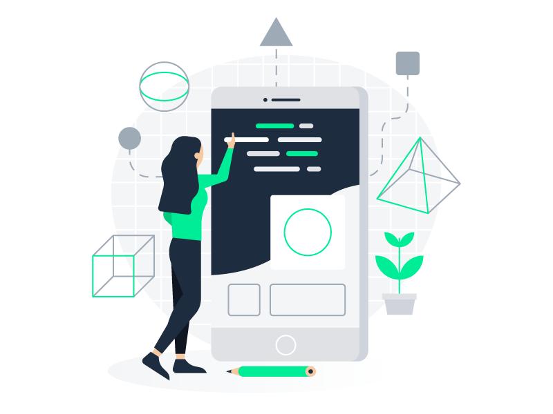 Development & Product development product design illustration code ui ux mobile platform