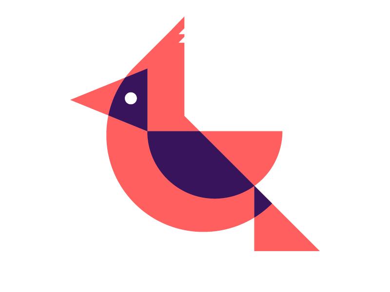 Cardinal design red intersection brand bird logo mark cardinal
