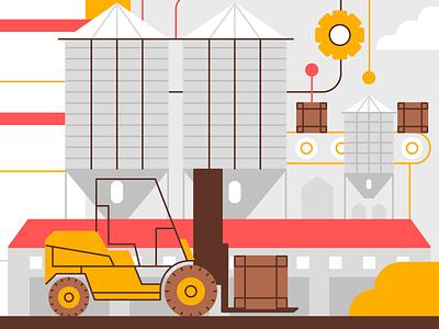 Warehouse Management hazelnut silo manufacturing warehouse storage production