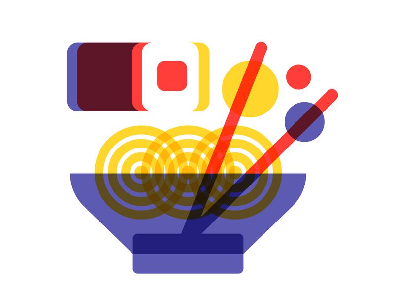 Flowing ramen inktober sushi japan food flowing