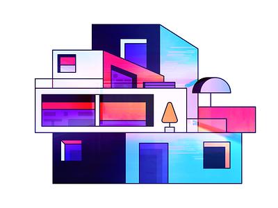 House bold exploration vibrant colors vibrant modern house