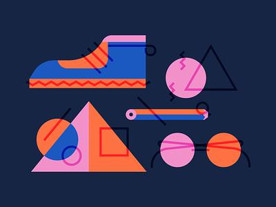shape studies illustration blend geometric icon style exploring shape