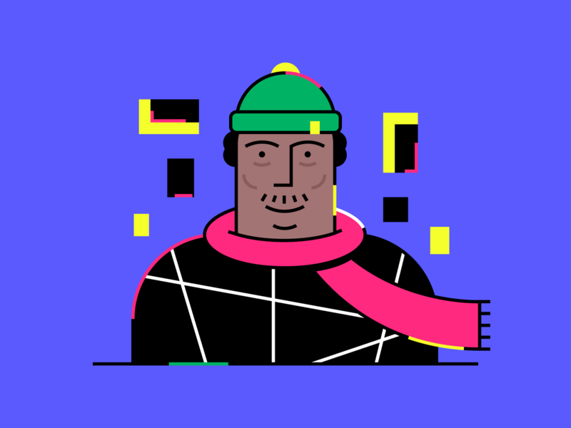 DEON art line colors face boy man character