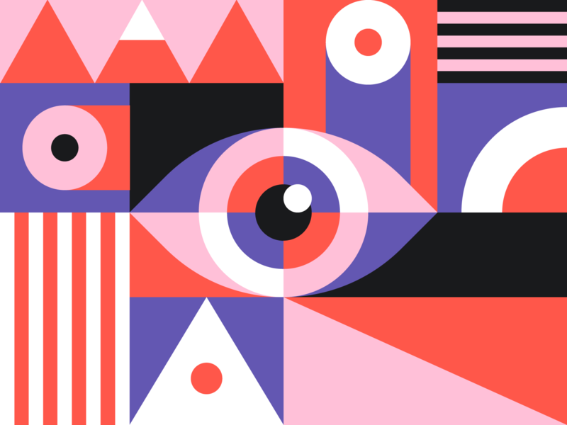 Göz squarespace6 circles illustration design graphic shapes abstract geometric eye