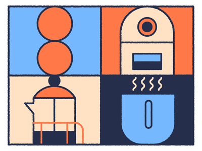 Roasting icon illustrations spot brewing coffee bean coffee roastry roasting