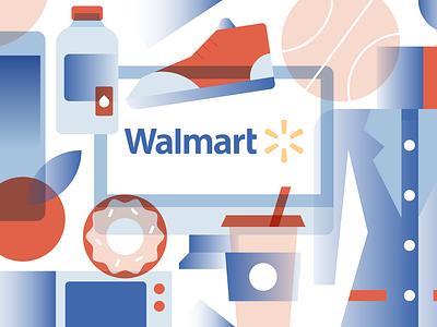 Walmart illlustration buy goodies shopping online e-commerce magazine editorial fashion system walmart