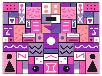 motif squares circles geometric shapes pink purple abstract geometric brush colors shapes motif