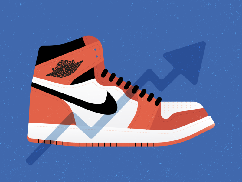Air Jordan fashion editorial illustration shoes sneakers air jordan 1 nike air jordan