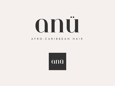 ANÜ Logo anu hair afro caribbean branding design creative digital graphic design logo