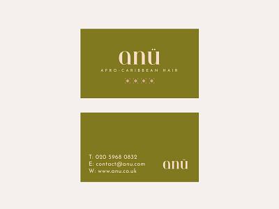 ANÜ Business Cards caribbean afro anu business cards hair design graphic design logo branding creative digital