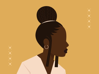ANÜ Illustration caribbean graphic design afro beauty woman hairstyle anü hair branding characterdesign design vector illustration creative digital