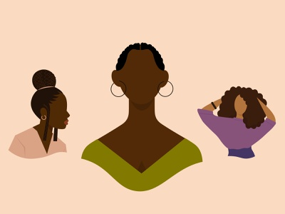 ANÜ Illustrations afro african hair caribbean characterdesign women anu branding design vector illustration creative digital