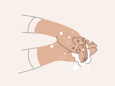 Wash your hands bubbles design vector covid-19 soap washyourhands hands wash illustration creative digital