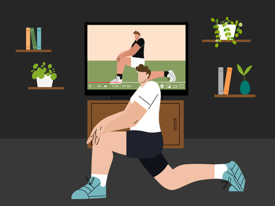 Stay Fit fitness fit man coronavirus covid-19 vector plant stayhome workout characterdesign design illustration creative health excercise stayfit digital