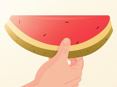Watermelon | Closeup seed fruit heatwave summer scene watermelon hand vector design illustration creative digital