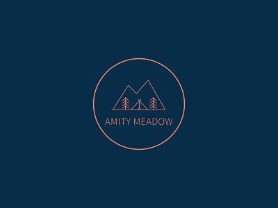 Amity Meadow | Logo retreat glamping logo branding graphic design vector design illustration creative digital