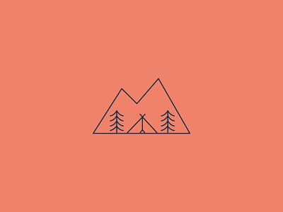 Amity Meadow | Logo tipi glamping nature logo scene branding graphic design vector design illustration creative digital