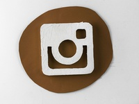 Instagram Hand-cut icon