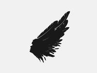 Singer Brand face feather plumage singer