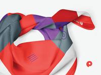 Brand design. R.O.S.T. Registrar. Brand neckerchief