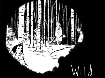 Inktober Day 16 - Wild