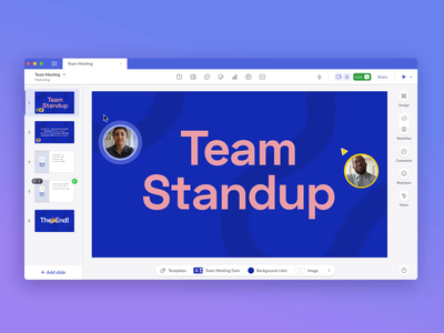 Live video collaboration cursors ui desktop pitch collaboration animation