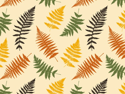 Fern Pattern elegant digital leaves colors plant nature vector art design illustration pattern fern