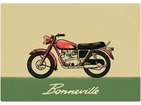 Triumph Bonneville Matchbox Label