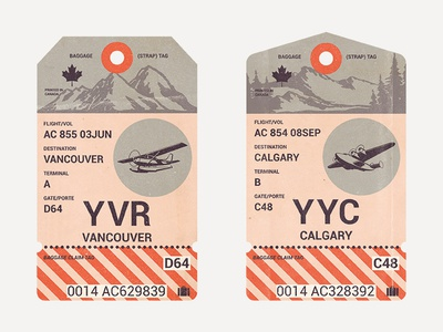 Canadian Travel Tags