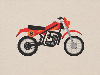 Vintage 1980's Dirt Bike